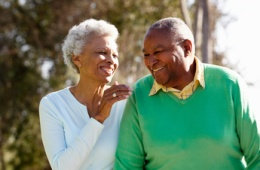 Image of senior couple walking together - used to illustrate Dr. Varkey's specialty of performing shoulder replacement surgery
